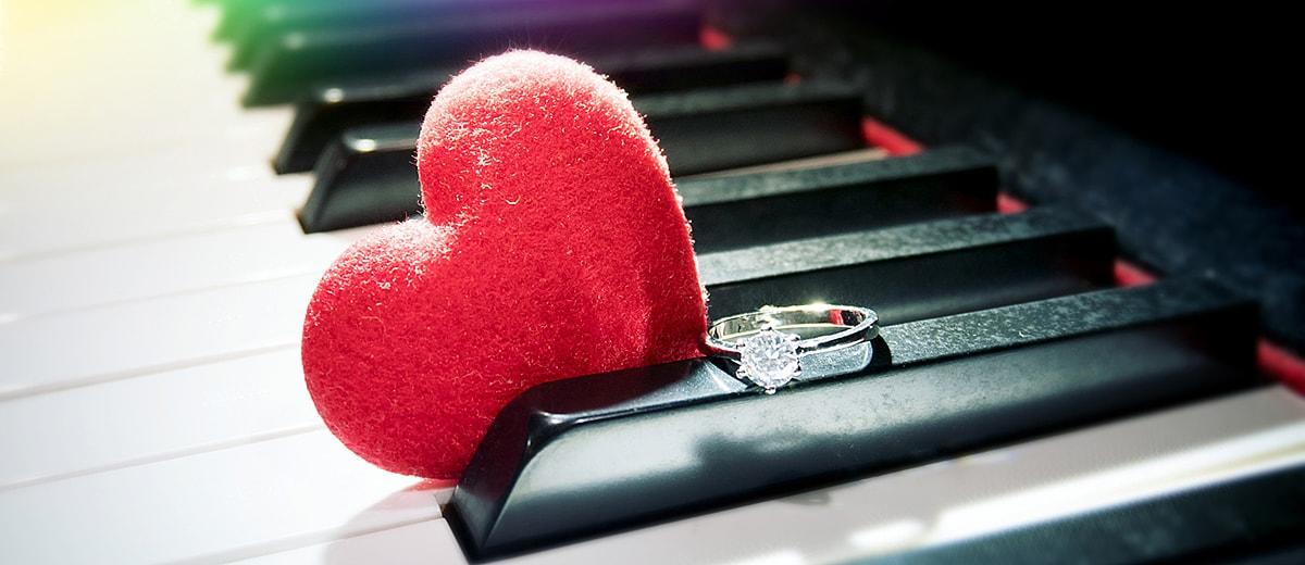 wedding songs piano music engagement ring heart