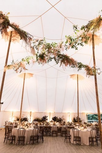 wedding tent boho reception with pampass grass and greenery lauren ross
