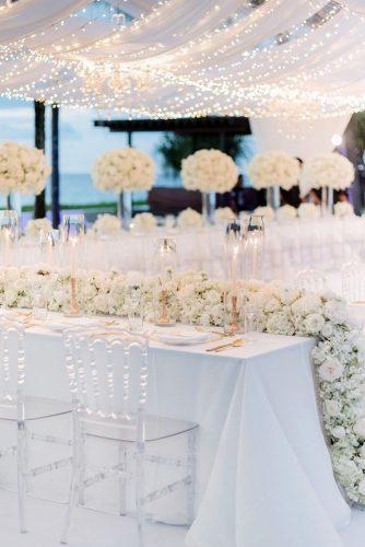 wedding tent elegant all white with lighting and flowers blushwedphotos via instagram
