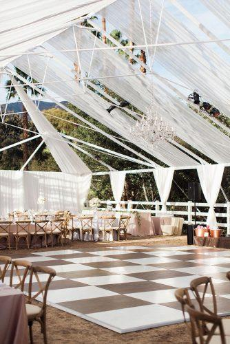 wedding tent elegant black white dancefloor under white tent katie shuler
