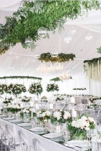 wedding tent elegant white with mirror decorations roses and greenery blushwedphotos