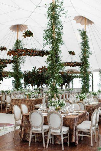 wedding tent under white tent reception with fresh greenery sarah kate photography