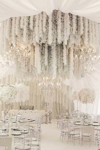 wedding tent white luxury with flowers and feathers ksemenikhin