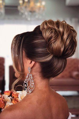 wedding updos for long hair elegant high bun pritodavaidosa