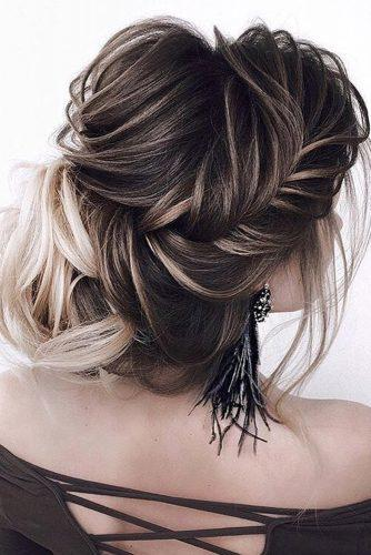 wedding updos for long hair elegant ombre textured updo art4studio