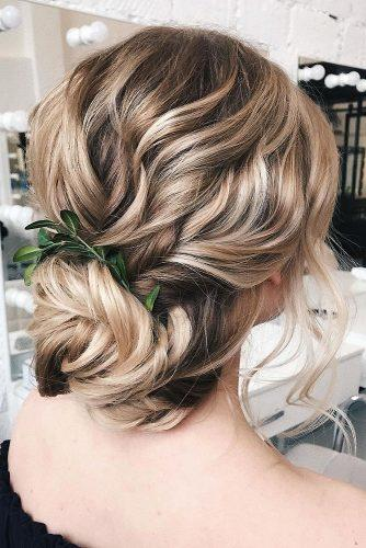 wedding updos for long hair greek curly with low bun sasha__esenina via instagram