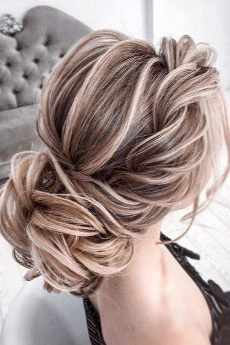 wedding updos for long hair low textured updo with side swept tatistylespb