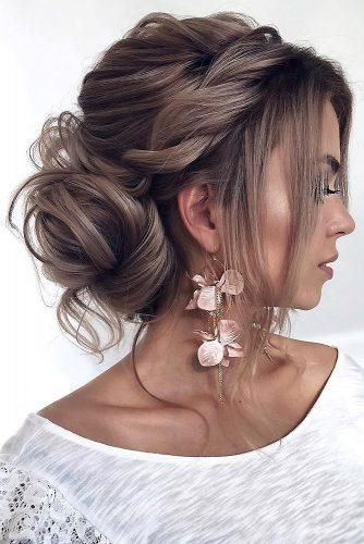 wedding updos for long hair stylish low bun with twists tonyastylist via instagram