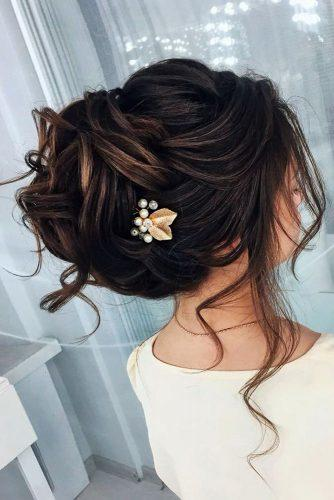 wedding updos for long hair volume curlu high on dark hair lavishpro via instagram