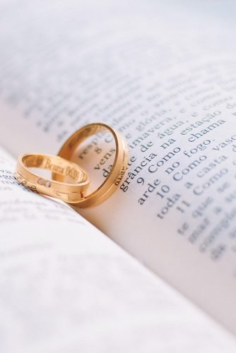 wedding vows book with rings