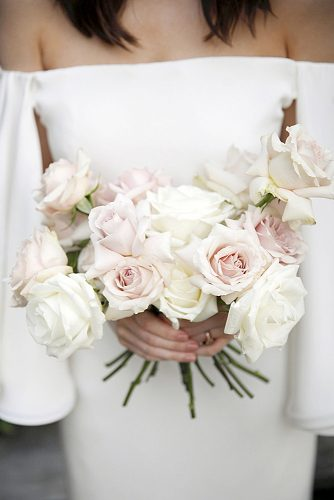 white wedding bouquets all roses belathee via instagram