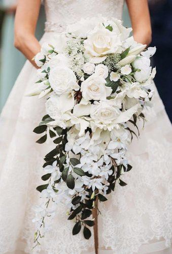 white wedding bouquets cascade bouquet egilphoto