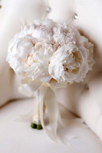 white wedding bouquets inspiration small bouquet with peonies and ribbons eddiezaratsian