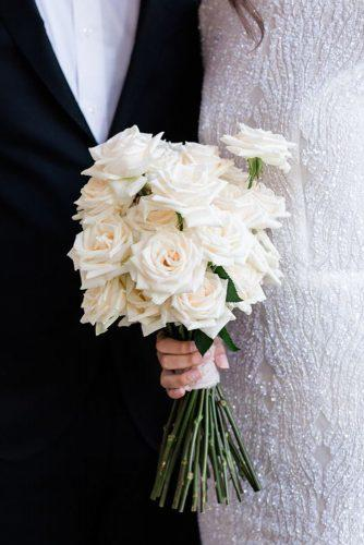 white wedding bouquets inspiration with roses loversnarrative