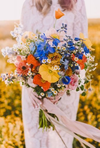 wildflower wedding bouquets color wild flower bouquet michelle roller