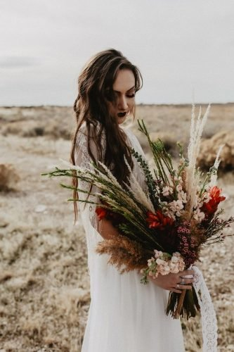 wildflower wedding bouquets dark boho bouquet summer taylor photo