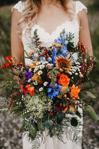 wildflower wedding bouquets fildflower bouquet Bethany Jeffery Photography
