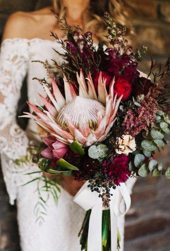 wildflower wedding bouquets wild bouquet with protea houseoflucielove