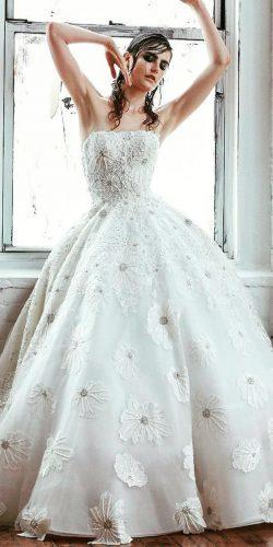 beautiful wedding dresses best ball gown strapless neckline floral isabelle armstrong