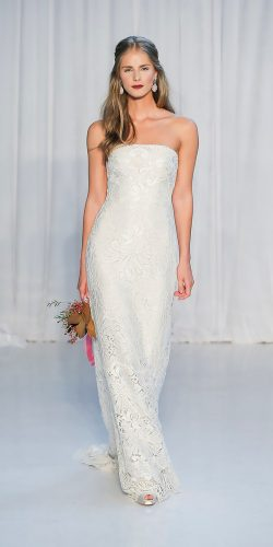 beautiful wedding dresses boho sheath strapless lace anne barge