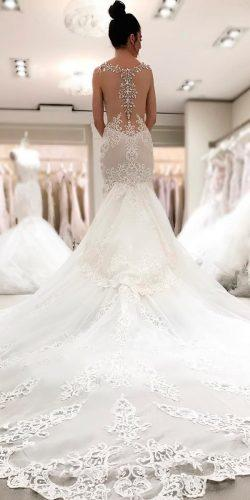 beautiful wedding dresses mermaid lace original backless sleeveless with train pnina tornai