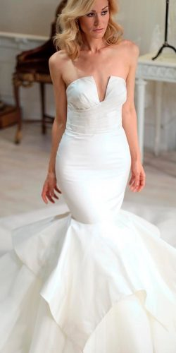 beautiful wedding dresses simple mermaid strapless sarahjassircouture