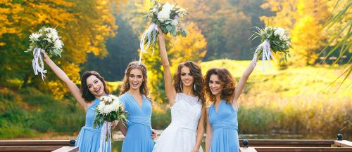 blue bridesmaid dresses featured