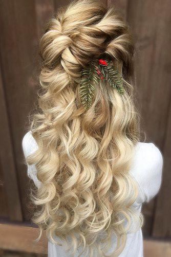 bridal hairstyles curlu volume half up half down annette updo via instagram