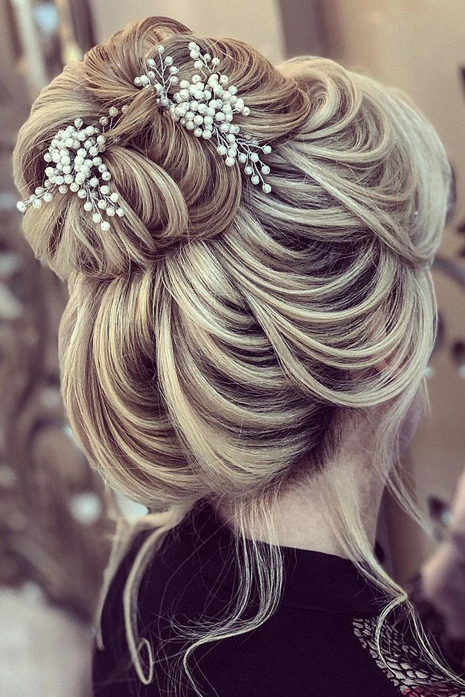 bridal hairstyles elegant high bun with hairpins zahraasadi_stylen