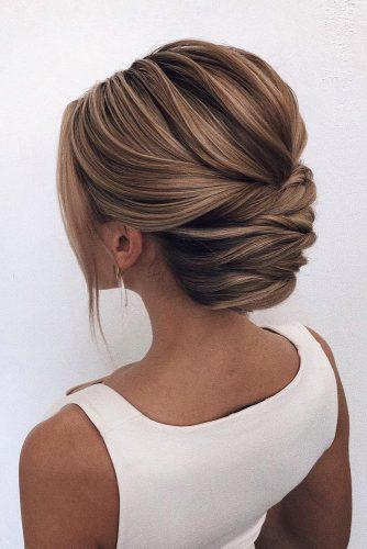 bridal hairstyles low classical elegant bun oksana_sergeeva_stilist