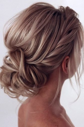bridal hairstyles relaxed textured low updo tonyastylist