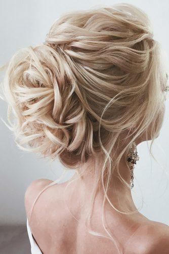 bridal hairstyles volume updo with curls on blonde hair lena bogucharskaya via instagram