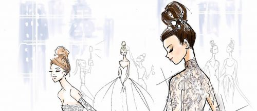 bridal illustrations featured ines di santo 1