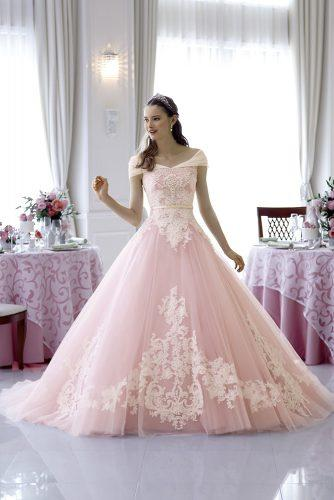 disney wedding beautiful bride in princess rose dress disney's fairy tale weddings