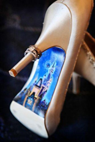 disney wedding white shoes with castle painted sole disney fine art photography