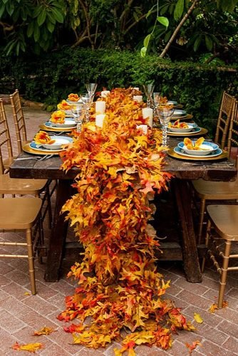 fall wedding decorations fall leaves table runner