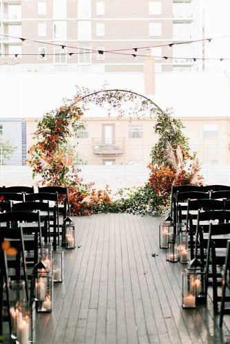 fall wedding decorations wedding aisle
