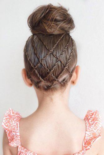 flower girl hairstyles blonde swept ropes and high messy bun mimiamassari