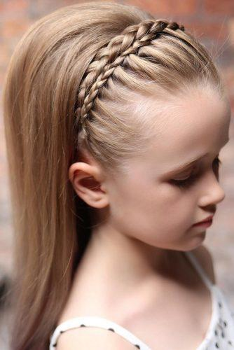 flower girl hairstyles half up half down with braided halo sweethearts_hair