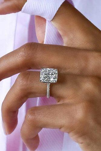 gold engagement rings emerald cut diamond