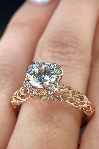 gold engagement rings gold round halo diamondsbyraymondlee