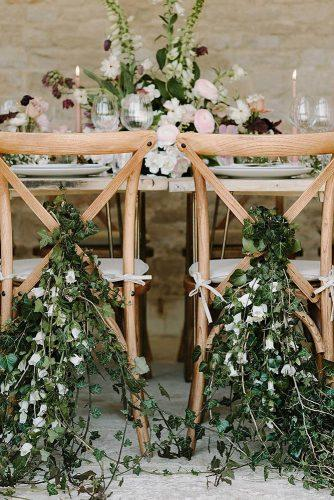 greenery wedding décor reception décor for woodland chairs beccygoddard