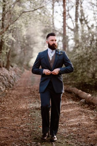 grey groomsmen suits dark with waistcoat erinm photography