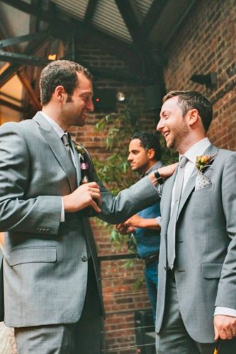 grey groomsmen suits rustic attire with boutonniere boureadyluck