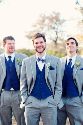 grey groomsmen suits with blue waistcoats forever photography studio