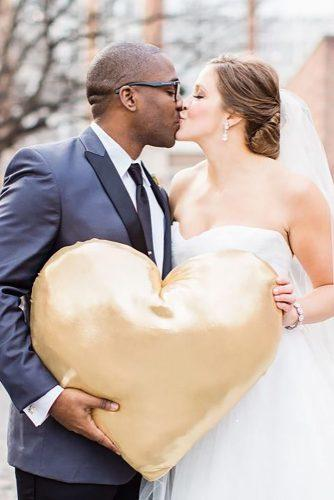 heart wedding photos gold heat robynvandyke