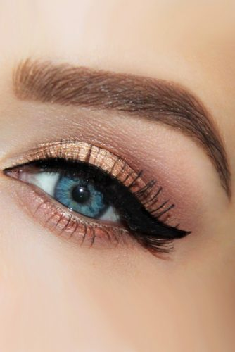 makeup ideas for blue eyes lid liner bronze bonitafy beauty