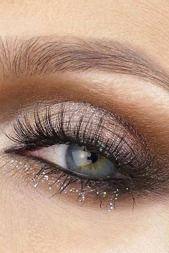 makeup ideas for blue eyes warm brown eyeshadows with silver glow lorealmakeup via instagram