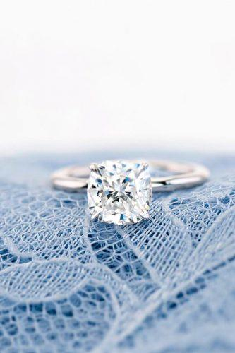 moissanite engagement rings solitaire round cut white gold thetruegemcompany