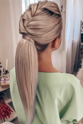 pony tail hairstyles long blonde with textured braided styles tanya_ilyasevich